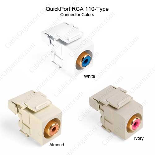 Leviton Quickport RCA 110-Type Connector Colors  - icon