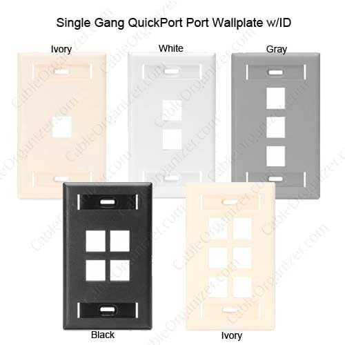 Leviton Single Gang Wall Plate with ID Designation Window available colors - icon