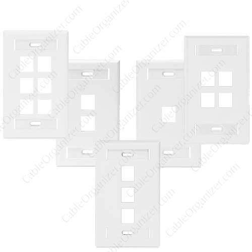 Leviton Single Gang Wall Plate with ID Designation Window - icon