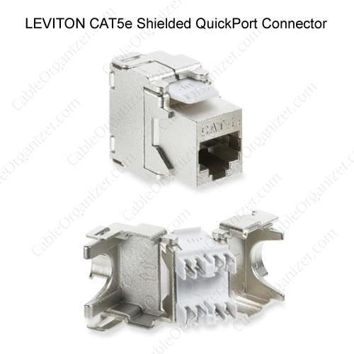 Leviton cat5e shielded quickport connector - icon