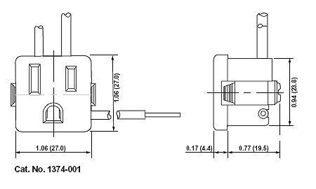 snap-in receptacle technical drawing