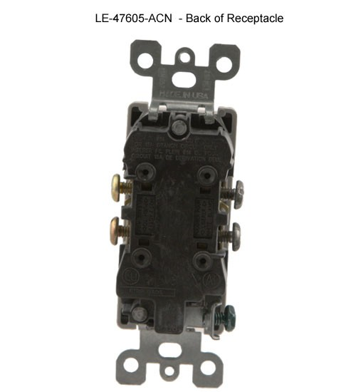 back view of leviton duplex power receptacle for structured media enclosure icon