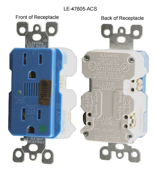 front and rear view of leviton duplex j-box surge protection kit for structured media enclosure icon