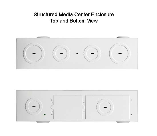 leviton structured media enclosure top and bottom views icon