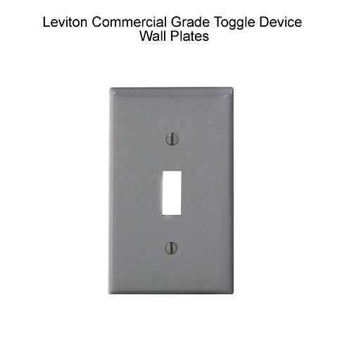 Leviton Commercial Grade Toggle Device Wall Plates