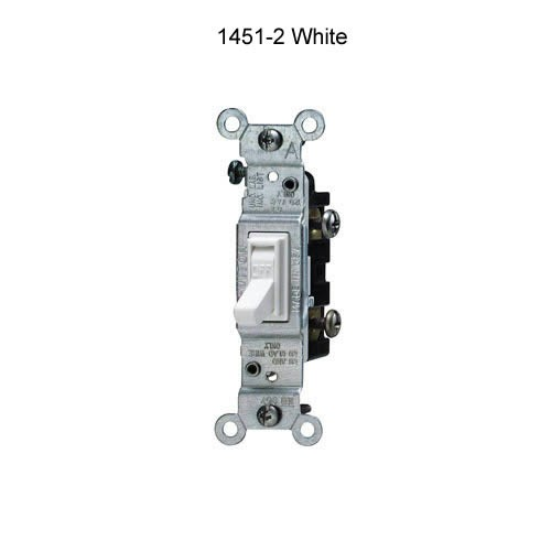 leviton 15 amp single pole and 3 and 4 way quiet toggle switch in white icon