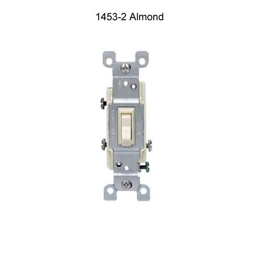 leviton 15 amp single pole and 3 and 4 way quiet toggle switch in almond icon