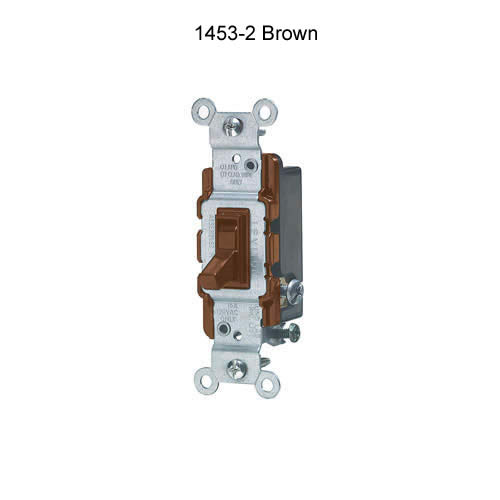 leviton 15 amp single pole and 3 and 4 way quiet toggle switch in brown icon