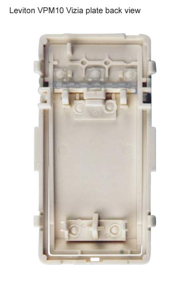 leviton vizia plus coordinating and matching dimmer back plate view icon