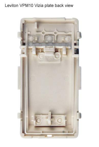 leviton vizia 1000w incandescent dimmer plate back view icon