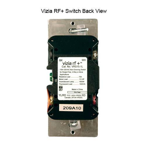leviton vizia rf plus wireless wall switch back view icon