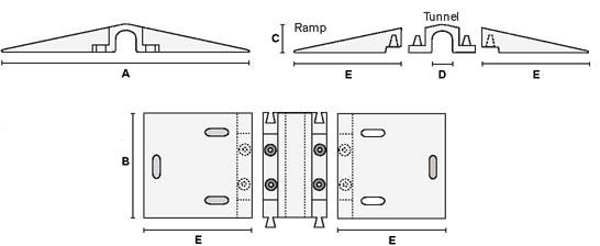 schematics for modular hose bridge, cord cover