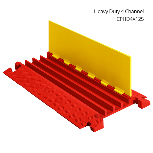 Linebacker heavy duty four channel cable protector in use - icon