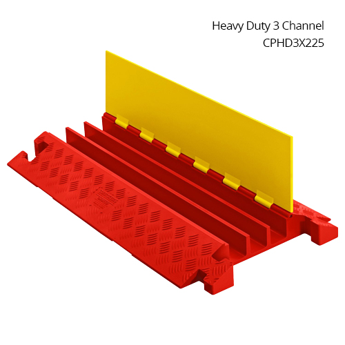 Linebacker heavy duty three channel cable protector in use - icon