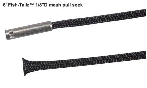 close up of lsdi fish-tailz one eighth in diameter mesh pull sock icon
