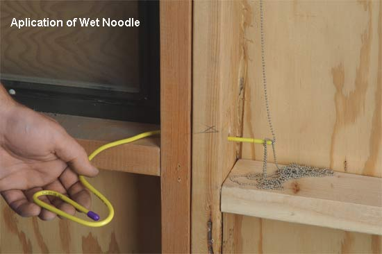 lsdi wet noodle magnetic in-wall retrieval kit in use icon
