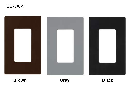 lutron claro designer wallplates in brown gray and white icon