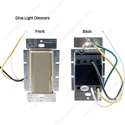Lutron Diva Light Dimmer, front and back - icon