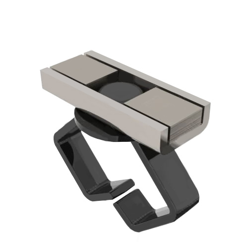 Large Black Cable Holder - icon