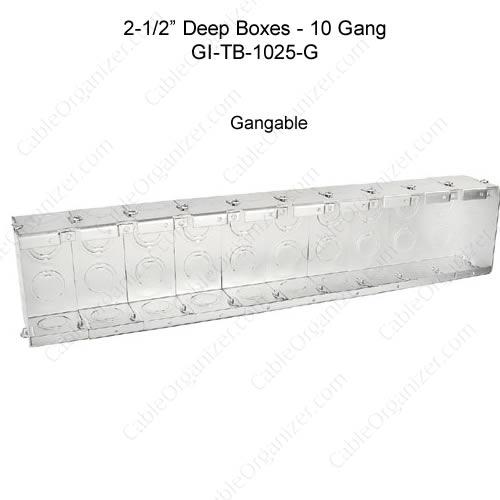 Solid and Gangable Masonry Boxes GI-TB-1025-G