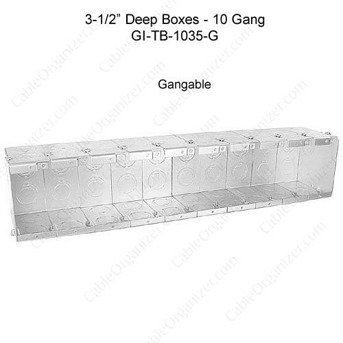 Solid and Gangable Masonry Boxes GI-TB-1035-G