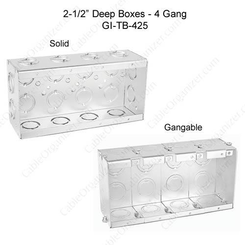 Solid and Gangable Masonry Boxes GI-TB-425
