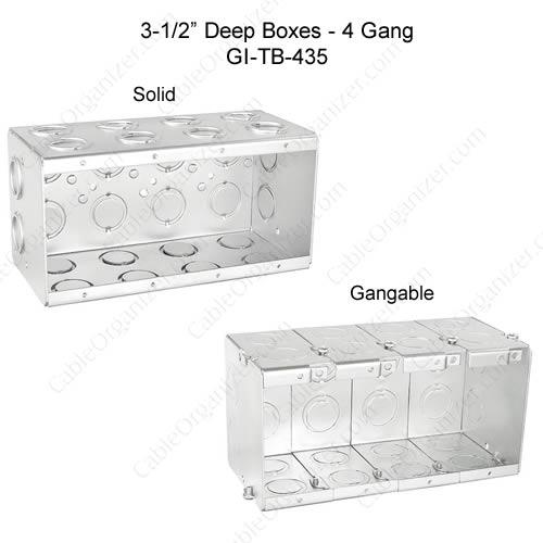 Solid and Gangable Masonry Boxes GI-TB-435