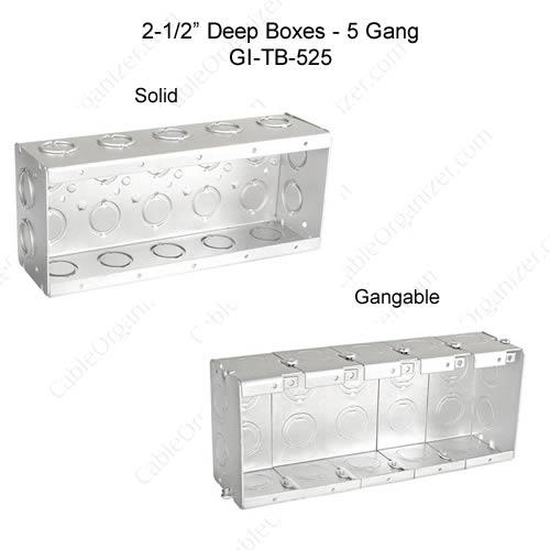 Solid and Gangable Masonry Boxes GI-TB-525