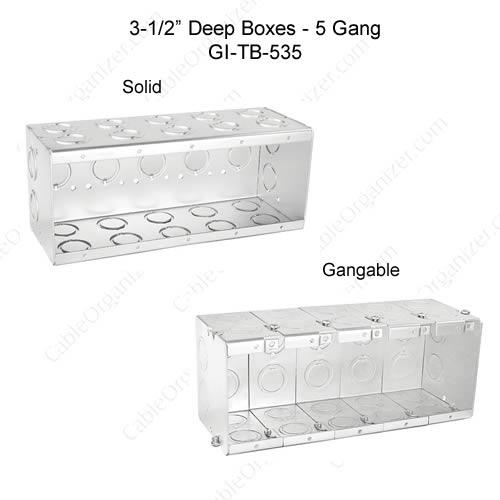 Solid and Gangable Masonry Boxes GI-TB-535