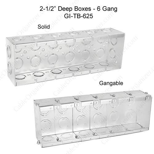 Solid and Gangable Masonry Boxes GI-TB-625