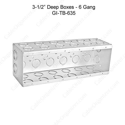 Solid and Gangable Masonry Boxes GI-TB-635