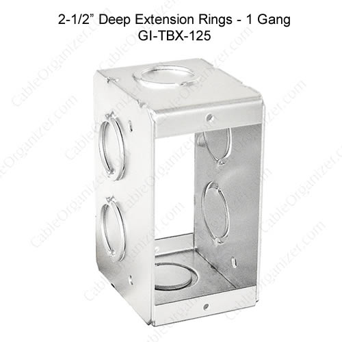 Solid and Gangable Masonry Boxes GI-TBX-125
