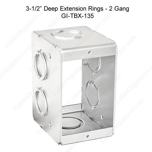 Solid and Gangable Masonry Boxes GI-TBX-135