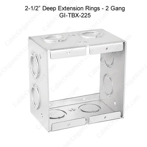 Solid and Gangable Masonry Boxes GI-TBX-225
