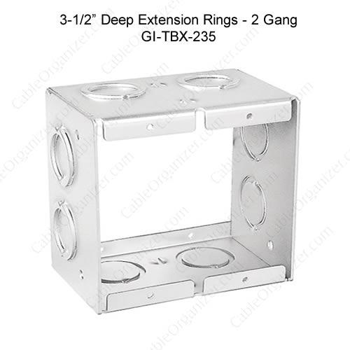 Solid and Gangable Masonry Boxes GI-TBX-235