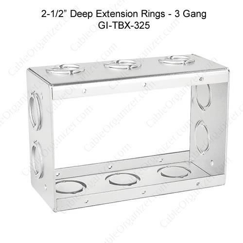 Solid and Gangable Masonry Boxes GI-TBX-325