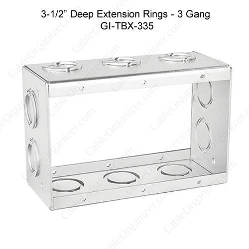 Solid and Gangable Masonry Boxes GI-TBX-335