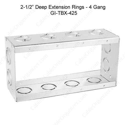 Solid and Gangable Masonry Boxes GI-TBX-425