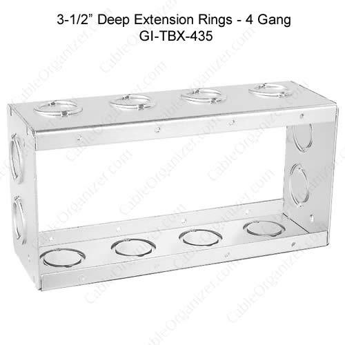 Solid and Gangable Masonry Boxes GI-TBX-435