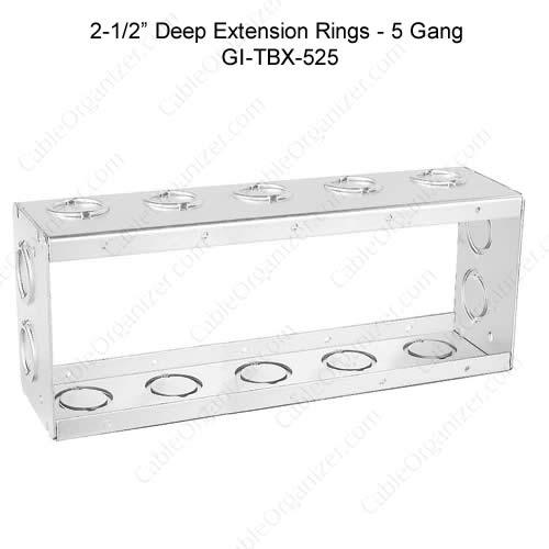 Solid and Gangable Masonry Boxes GI-TBX-525