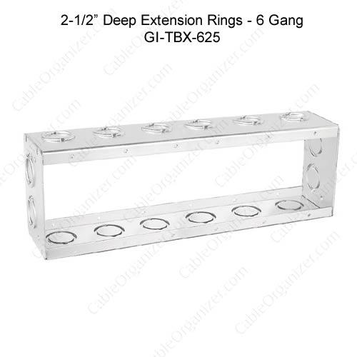 Solid and Gangable Masonry Boxes GI-TBX-625