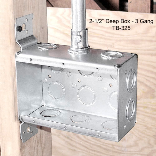 2-1/2 inch deep box 3 gang - icon