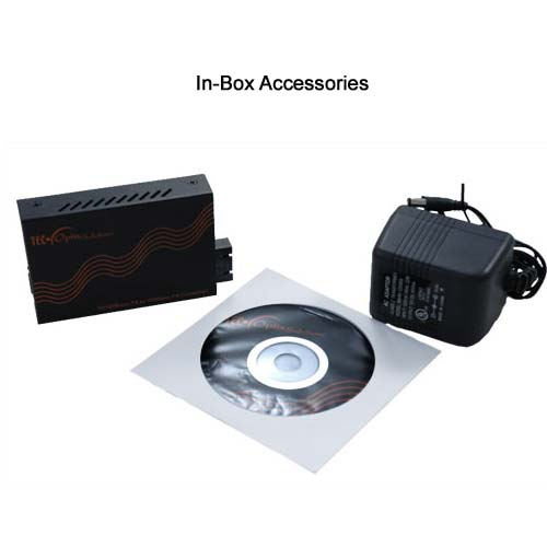 in box accessories for fast ethernet media converter icon