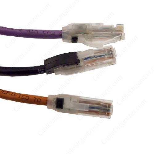 purple, black, orange EVO6 network cable - icon