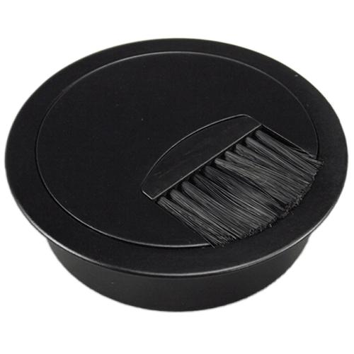 3inch round brush grommet - satin aluminum