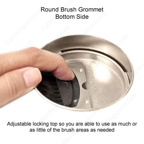 round brush grommet - underside
