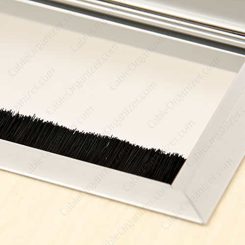 rectangular brush grommet - closeup