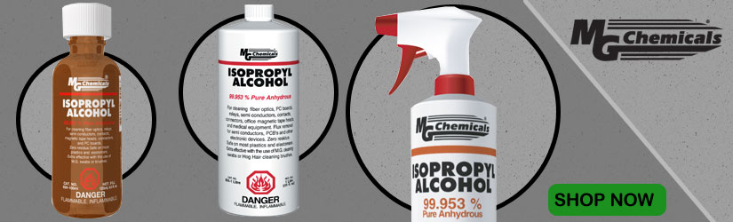 MG Chemicals isopropyl alcohol for cleaning