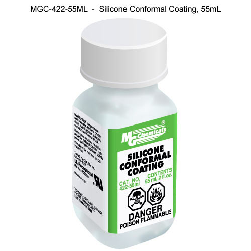 55 ml container of mg chemicals silicone conformal coating icon