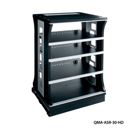 Home theater system shelving
